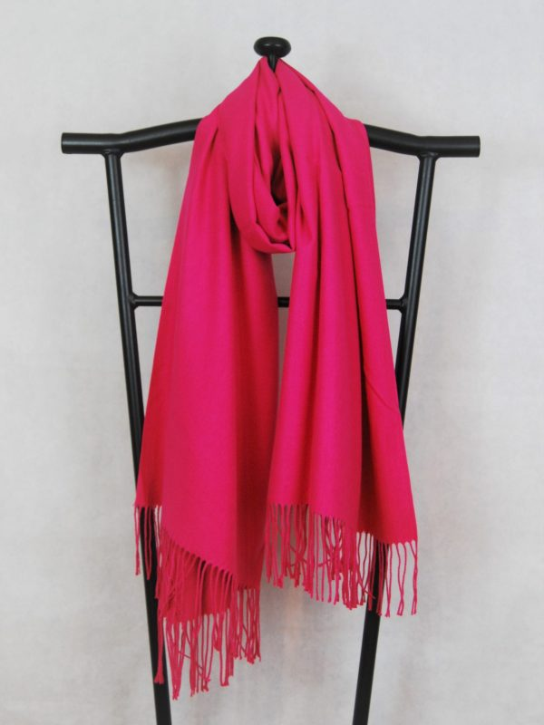 hot pink winter scarf