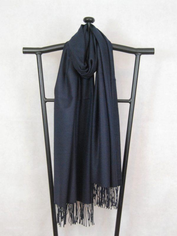 dark blue silky cashmere scarf