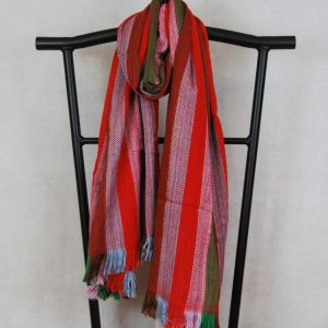 green and red stripes shangri la scarf