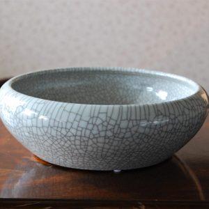 porcelain bowl medium size crackle finish